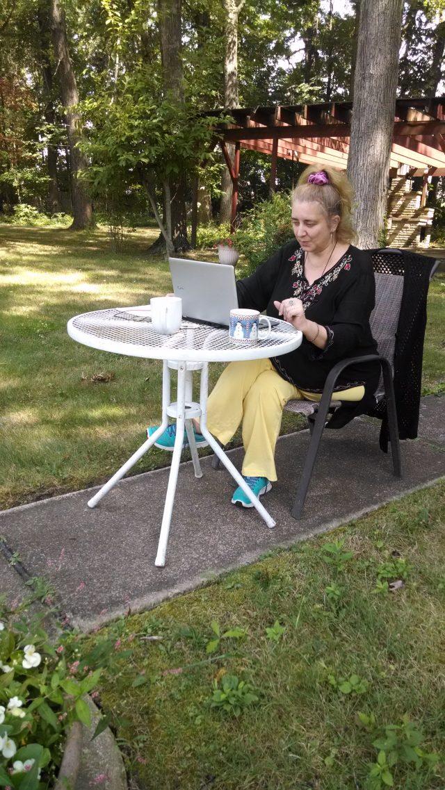 Viata de Scriitor roman in gradina din spatele casei din Mentor, Ohio