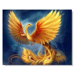 Tabloul Feng Shui cu pasarea Phoenix